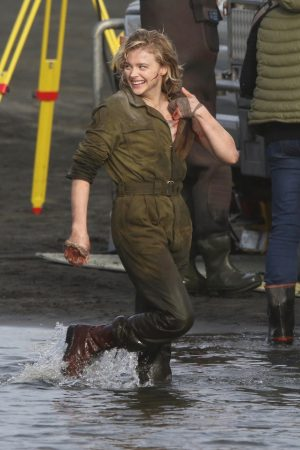 "Chloe Grace Moretz Shooting for ""Shadow in the Cloud"" in New Zealand 2019/06/10 8"