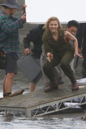 "Chloe Grace Moretz Shooting for ""Shadow in the Cloud"" in New Zealand 2019/06/10 18"
