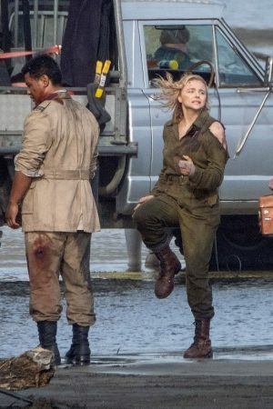 "Chloe Grace Moretz Shooting for ""Shadow in the Cloud"" in New Zealand 2019/06/10 21"
