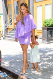 Chrissy Teigen Out with Her Daughter in New York City 2019/06/23 2
