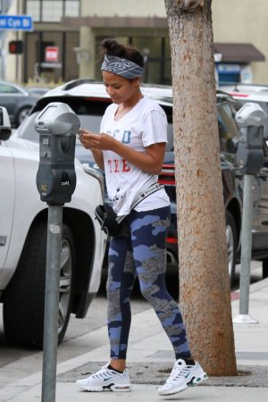 Christina Milian at a Beignet Box Mobile Unit in Studio City 2019/06/21 1