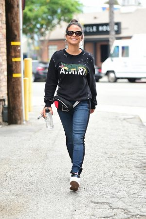 Christina Milian in Sweatshirt and Blue Denim Out in Los Angeles 2019/06/20 4