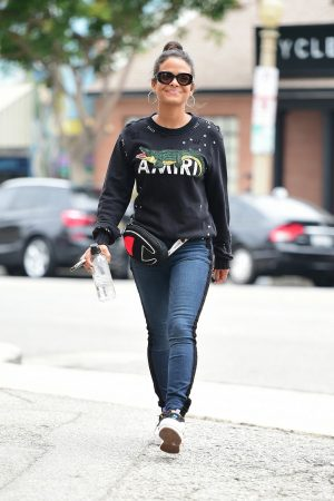 Christina Milian in Sweatshirt and Blue Denim Out in Los Angeles 2019/06/20 8