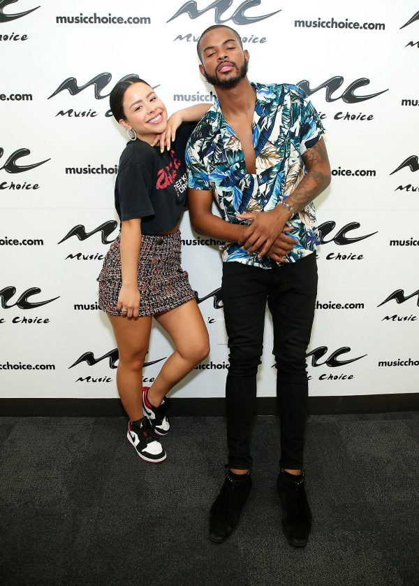 Cierra Ramire and Trevor Jackson arrives Music Choice in New York 2019/06/27 5
