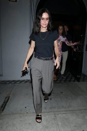 Courteney Cox Leaves Night Out at Craig's Restaurant in West Hollywood 06/25/2019 2