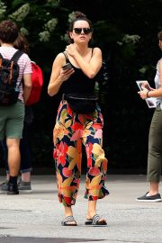 Daisy Ridley in Tank Top and Multicolor Bottom Out in New York 2019/06/25 3