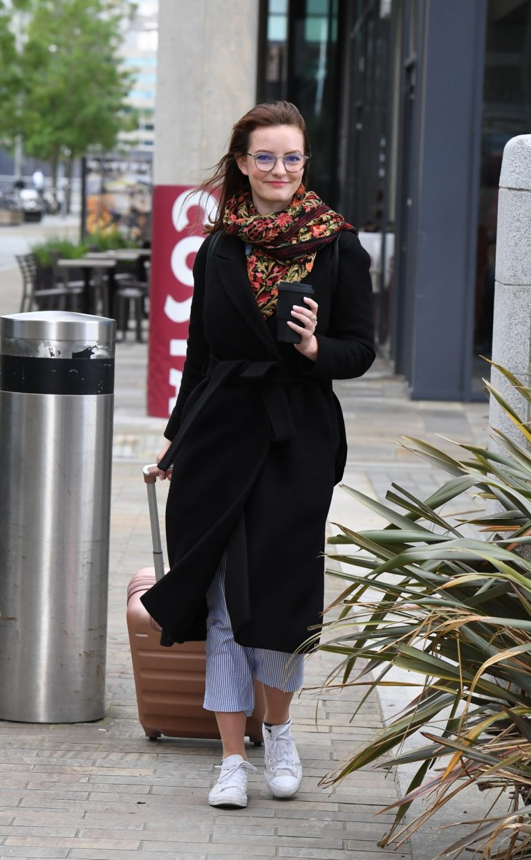 Dakota Blue Richards Leaves Costa Coffee at Media City UK in Manchester 2019/06/21 1