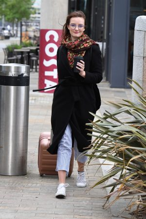 Dakota Blue Richards Leaves Costa Coffee at Media City UK in Manchester 2019/06/21 2