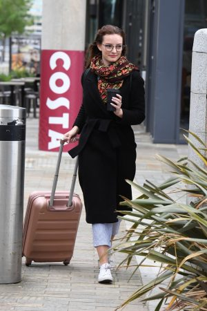 Dakota Blue Richards Leaves Costa Coffee at Media City UK in Manchester 2019/06/21 3