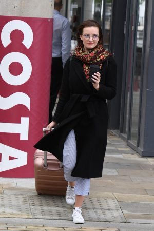 Dakota Blue Richards Leaves Costa Coffee at Media City UK in Manchester 2019/06/21 5