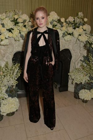 Ellie Bamber attends British Vogue and Tiffany & Co. Celebrate Fashion and Film Party 2019/02/10 2