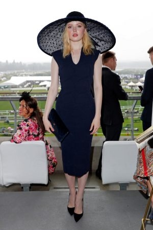 Ellie Bamber attends In the Moet & Chandon box of Royal Ascot at Ascot Racecourse 2019/06/19 1