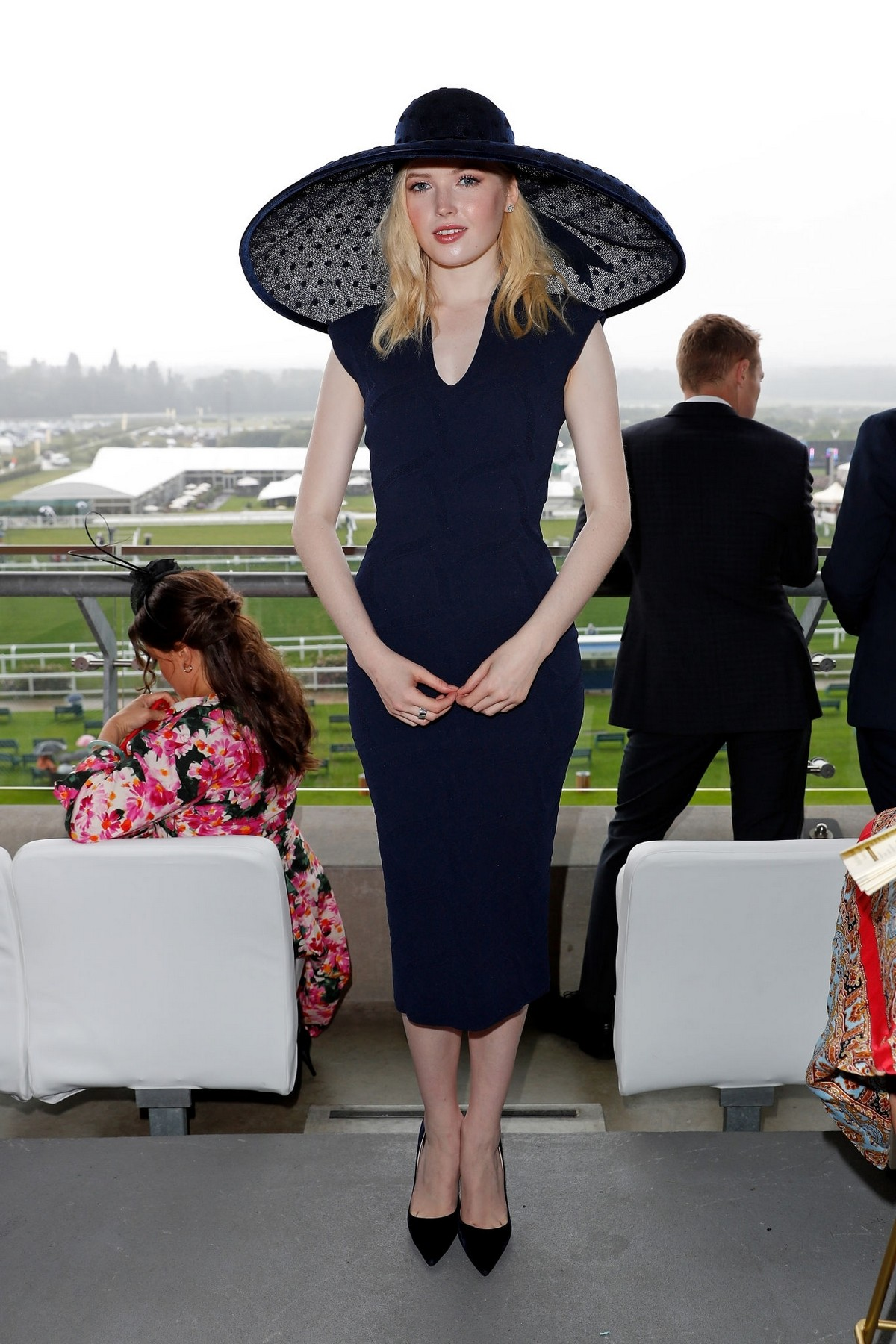 Ellie Bamber attends In the Moet & Chandon box of Royal Ascot at Ascot Racecourse 2019/06/19 2