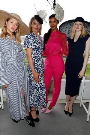 Ellie Bamber attends In the Moet & Chandon box of Royal Ascot at Ascot Racecourse 2019/06/19 5