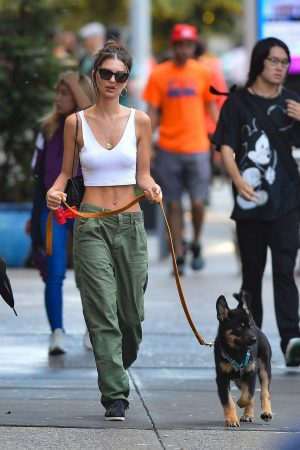 Emily Ratajkowski seen walking her dog in New York City 2019/06/20 4