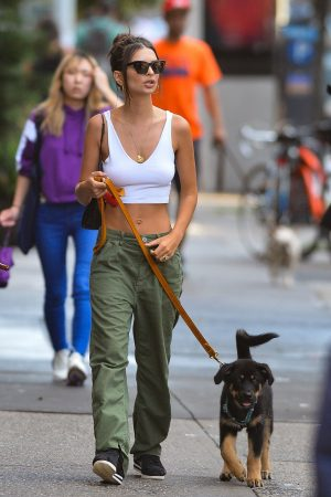 Emily Ratajkowski seen walking her dog in New York City 2019/06/20 5