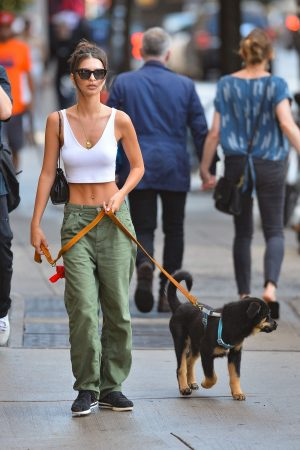 Emily Ratajkowski seen walking her dog in New York City 2019/06/20 7