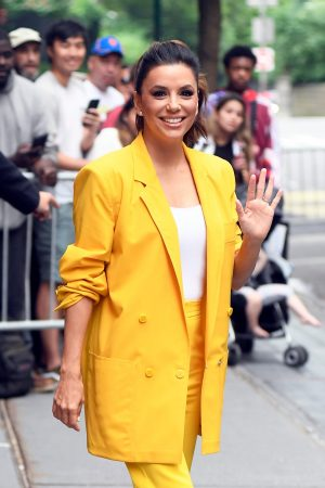 "Eva Longoria in Yellow Suit Outside ""View"" in New York City 2019/06/17 23"