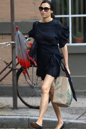 Famke Janssen in Black Stylish Dress Out in New York 2019/06/21 4