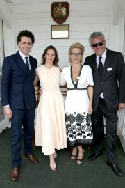 Felicity Jones attends The Royal Windsor Cup Final at Guards Polo Club in England 2019/06/23 13