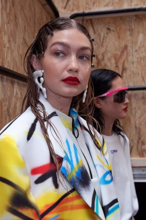Gigi Hadid at Menswear Spring Summer 2020 Fashion Show Backstage in Paris 2019/06/19 8