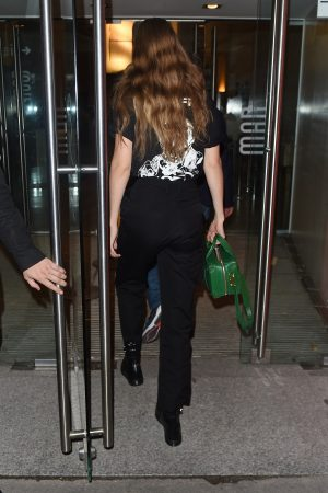Gigi Hadid in Double Black Out in Paris 2019/06/19 2