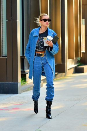 Hailey Baldwin in Double Denim Out in New York City 2019/06/22 1