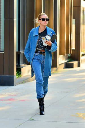 Hailey Baldwin in Double Denim Out in New York City 2019/06/22 3