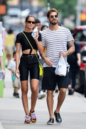 Izabel Goulart and Kevin Trapp after a workout in New York City 2019/06/17 2