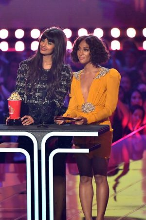 Jameela Jamil and Mj Rodriguez 2019 MTV Movie & TV Awards at the Barker Hanga 2019/06/15 2