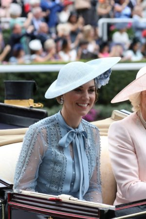 Kate Middleton attends Day one of Royal Ascot in Ascot, England 2019/06/18 26