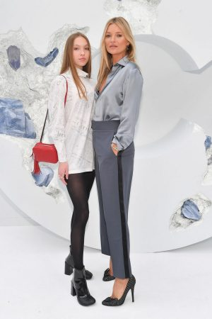 Kate Moss and Lila Moss attends Dior Homme Menswear Spring Summer 2020 Show in Paris 2019/06/21 11