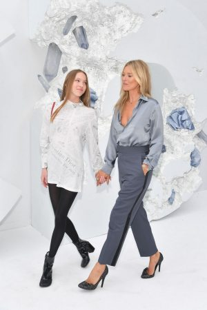 Kate Moss and Lila Moss attends Dior Homme Menswear Spring Summer 2020 Show in Paris 2019/06/21 12