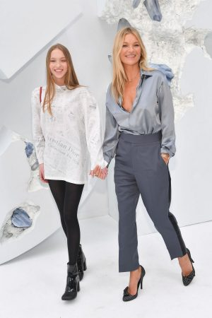 Kate Moss and Lila Moss attends Dior Homme Menswear Spring Summer 2020 Show in Paris 2019/06/21 17