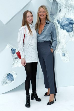 Kate Moss and Lila Moss attends Dior Homme Menswear Spring Summer 2020 Show in Paris 2019/06/21 18