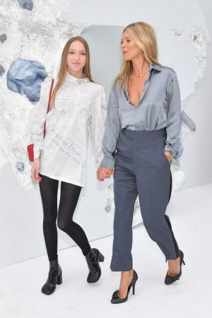 Kate Moss and Lila Moss attends Dior Homme Menswear Spring Summer 2020 Show in Paris 2019/06/21 22
