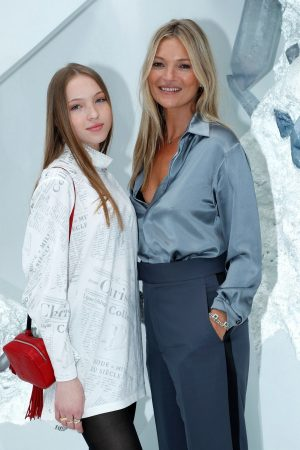 Kate Moss and Lila Moss attends Dior Homme Menswear Spring Summer 2020 Show in Paris 2019/06/21 23