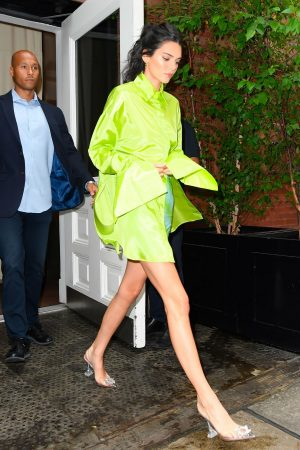 Kendall Jenner in Neon Color Short Dress in Soho, New York 2019/06/20 1