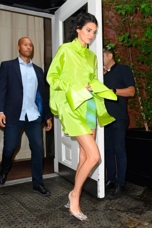 Kendall Jenner in Neon Color Short Dress in Soho, New York 2019/06/20 2