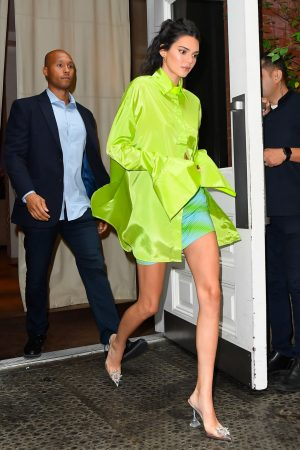 Kendall Jenner in Neon Color Short Dress in Soho, New York 2019/06/20 3