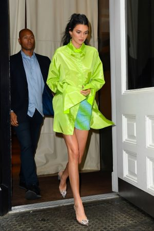 Kendall Jenner in Neon Color Short Dress in Soho, New York 2019/06/20 4