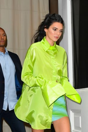 Kendall Jenner in Neon Color Short Dress in Soho, New York 2019/06/20 6