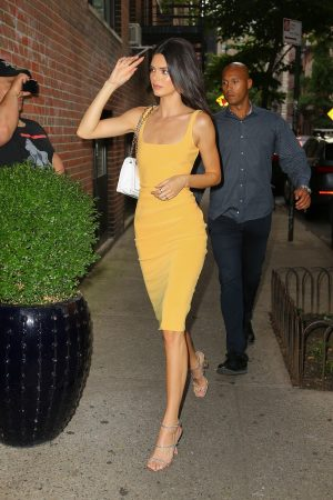 Kendall Jenner in Orange Color Dress Out and about in New York 2019/06/17 3