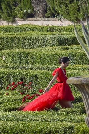 Kendall Jenner in Red Dress Outside Photoshoot in Rome 2019/06/04 13