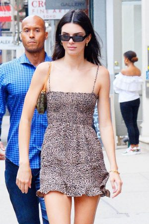 Kendall Jenner in Super Shot Dress with Long Boots in New York 2019/06/19 2