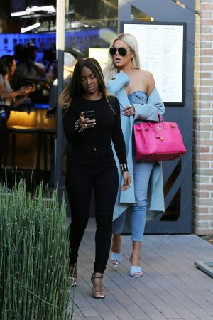 Khloe Kardashian and Malika Haqq Out for a studio in Los Angeles 2019/06/19 10
