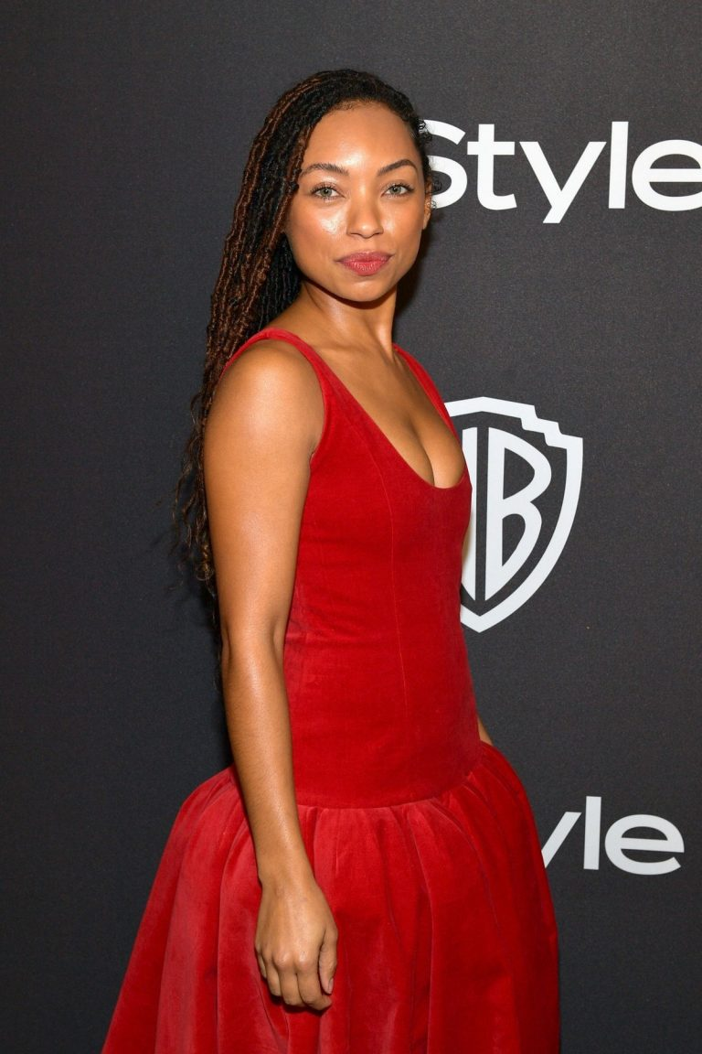 Logan Browning attends InStyle And Warner Bros. Golden Globes After Party 2019/01/06 1