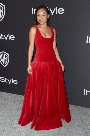 Logan Browning attends InStyle And Warner Bros. Golden Globes After Party 2019/01/06 2