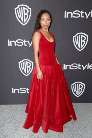Logan Browning attends InStyle And Warner Bros. Golden Globes After Party 2019/01/06 4