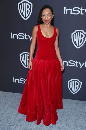 Logan Browning attends InStyle And Warner Bros. Golden Globes After Party 2019/01/06 7